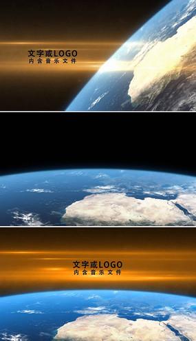 大气地球logo片头ae模板