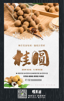 桂圆龙眼美食促销海报