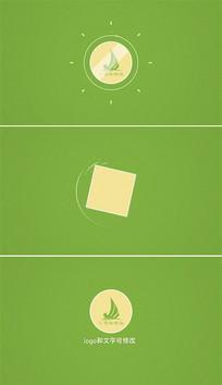 简洁图形动画logo片头模板