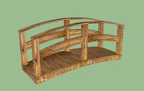 简约木质拱桥模型