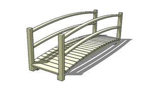 极简木质拱桥