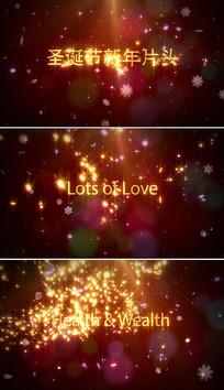 金色粒子圣诞节新年AE片头模板