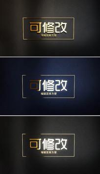 金色文字标题标志AE片头模板
