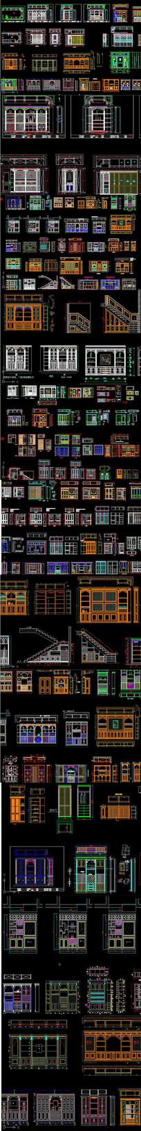 酒柜图纸酒窖CAD