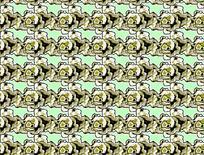 绿色系背景反复纹样图案素材JIG