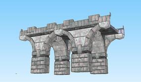 欧式桥梁桥墩