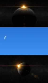 太空月球背景AE视频模板