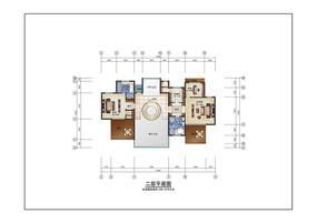 现代风别墅室内二层彩平