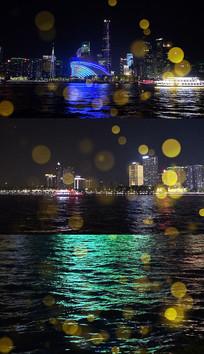 音乐月亮河写实背景视频