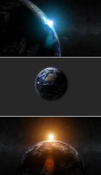 宇宙太空地球背景AE视频模板