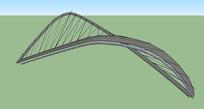 造型吊索桥吊索模型