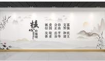 中式社会主义核心价值观文化墙 CDR