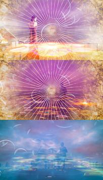 歌曲作曲家舞台背景视频