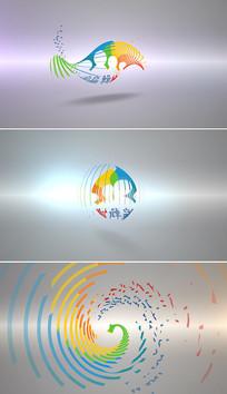 简洁旋转logo标志AE片头模板