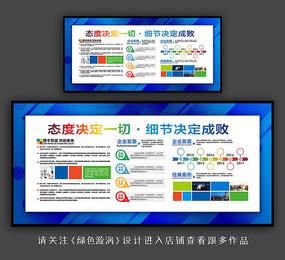 蓝色企业文化形象墙