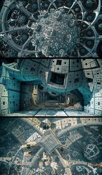 三维立体外星建筑视频素材