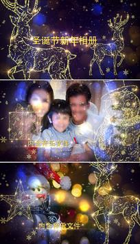 圣诞节元旦新年祝福AE片头模板