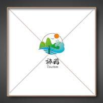 诗意山水旅游标志