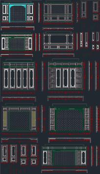 中式背景墙CAD