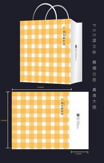创意布艺黄色简约手提袋