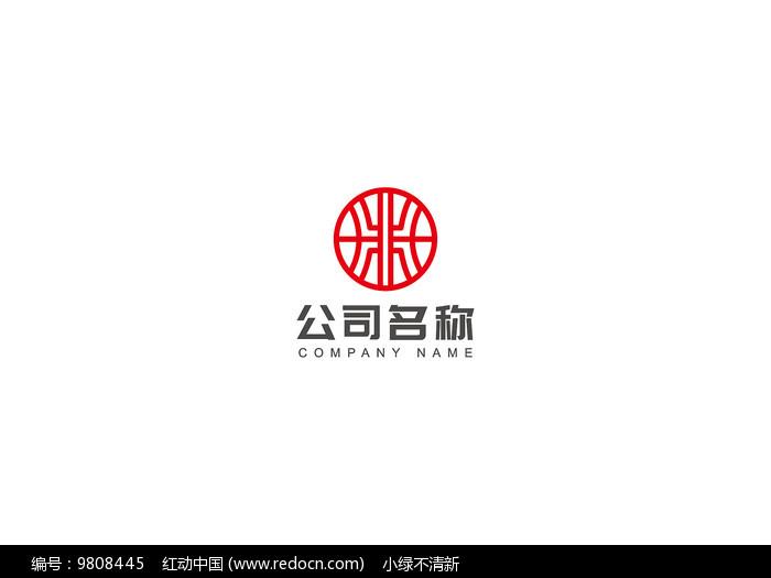 红色中国风logo图片