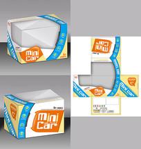 卡通遥控车玩具盒包装设计 PSD
