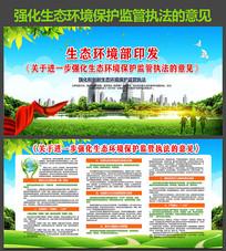 生态环境保护监管执法展板