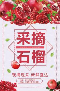 石榴水果海报设计