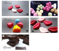 一组巧克力海报设计