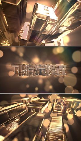 震撼大气3d金色颁奖片头模板