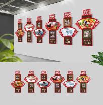 中式学校食堂文化墙