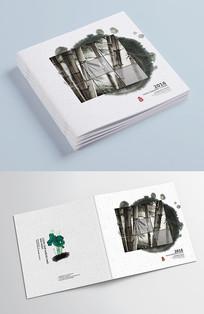 简洁中国风古典水墨画册封面