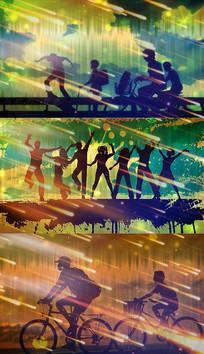 歌曲坚强的小孩舞台背景视频