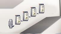 简洁校园传统文化楼梯设计
