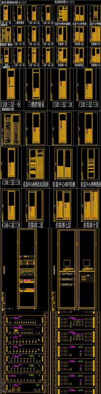 机柜布置图机柜CAD