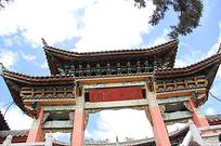 京式建筑屋顶装饰门头