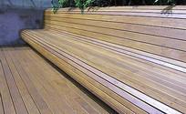 流线形木质坐凳