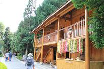 民宿民居木质建筑脸谱装饰