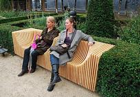 木质庭院座椅 JPG