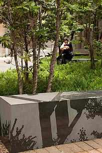 石质图案装饰坐凳