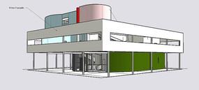 现代别墅模型
