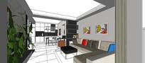 现代风家装客厅