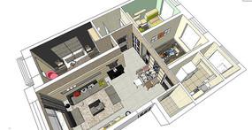 现代室内装修成套模型