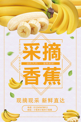 香蕉水果海报设计