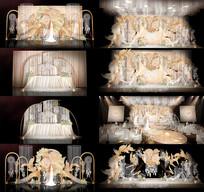 香槟色浪漫婚礼背景板