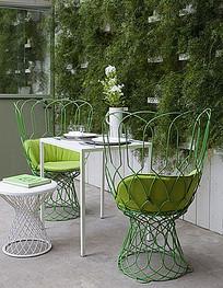 小清新餐厅桌椅