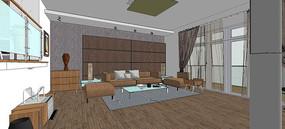 中式简约室内模型