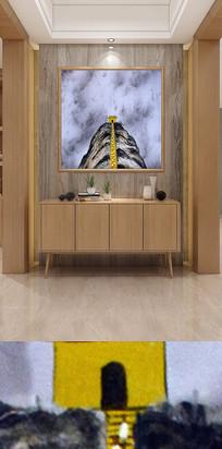 抽象艺术山顶建筑装饰画