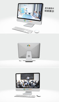 电脑显示器图片视频展示模板