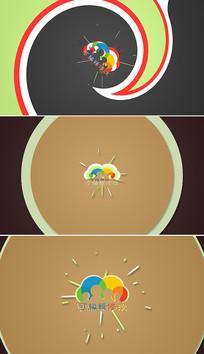 简洁形状动画logo片头模板